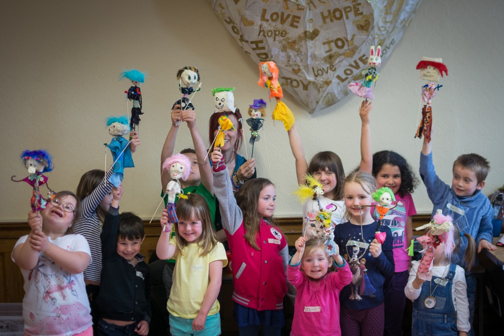 Puppets! Puppets! Puppets! Workshop - Puppet-Stew - Fri 17 April 2015 - Inch Community Centre, Edinburgh